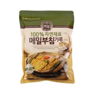 [메가마트] 백설 100% 자연재료 메밀 부침가루 500g