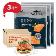 [동원] 동원연어 훈제프리미엄 140gx3봉+양파소스 30gx3봉