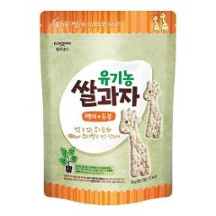 [메가마트] 아기밀냠냠 유기농 쌀과자 백미+두부 30g