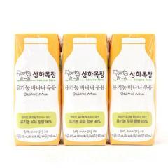 [메가마트] 상하목장 유기농 바나나우유 125ml*3