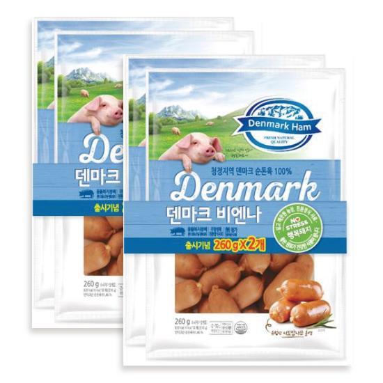 [동원] 덴마크 비엔나 260g*4개입-청정지역 덴마크 순돈육 100%-