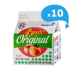 [동원] 쿨피스 복숭아 180mL*10개