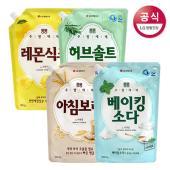 [LG생활건강] 퐁퐁 주방세제 리필 1.2Lx3개 (총 3.6L) / 아침보리 베이킹소다 택 1