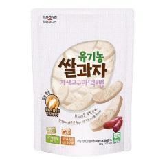 [메가마트] 일동후디스 아기밀냠냠 유기농 쌀과자 자색고구마떡빵 30g