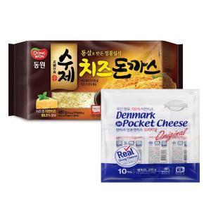[동원] 수제치즈돈까스 480g(4입) +인포켓치즈 오리지날 (20gx20개입)