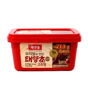 [메가마트] 해찬들 우리쌀로만든 태양초 고추장 2kg+500g / 2.5kg