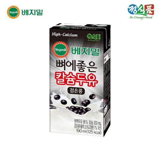 [정식품] 베지밀 뼈에좋은 칼슘두유 검은콩 190mlx64팩