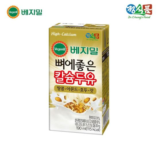 [정식품] 베지밀 뼈에좋은 칼슘두유 땅콩아몬드호두잣 190mlx64팩