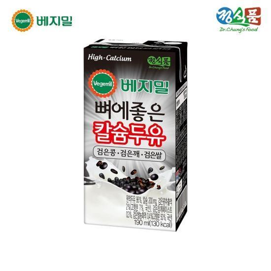 [정식품] 베지밀 뼈에좋은 칼슘두유 검은콩검은깨검은쌀 190mlx64팩
