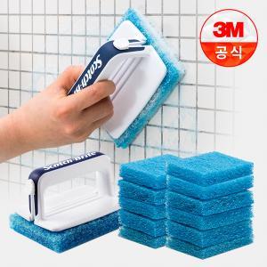 [3M]욕실청소용 크린스틱 핸들 1개+리필 12개
