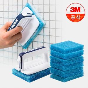 [3M]욕실청소용 크린스틱 핸들 1개+리필 7개