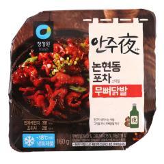 [메가마트] 청정원 안주야(夜) 논현동 포차스타일 무뼈닭발 180g