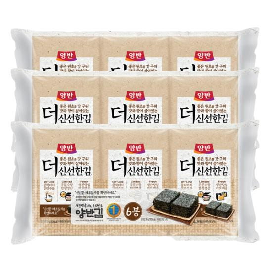 [동원] 당일구운 양반김 더신선한김(식탁김) 5g(10매)*6봉*6세트(총36봉)