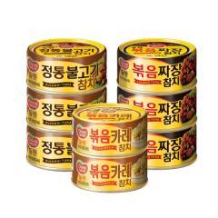 [만원의행복★참치8캔][동원] 볶음짜장참치 3캔+정통불고기참치 3캔+볶음카레참치 2캔