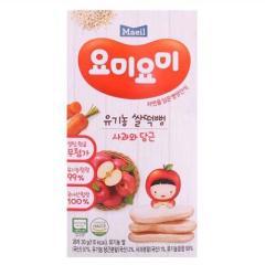 [메가마트] 요미요미 유기농 쌀떡뻥 사과와당근 30g