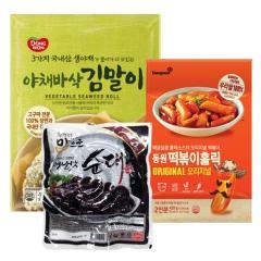 [동원] 떡볶이홀릭 오리지널 2인분+야채바삭 김말이 700g+대림선 옛날맛순대 500g