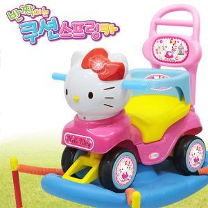 헬로키티 쿠션 스프링카(승용완구, 점프, 붕붕카, 아동용자동차, 다기능완구)