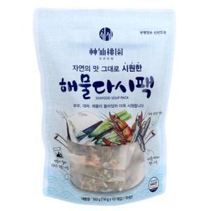 [메가마트] 신선도원 해물다시팩(시원한맛)160g(16g*10EA)