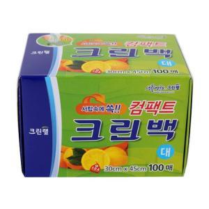 [메가마트] 크린백(컴팩트,대)1+1(30cmx45cmx100매)