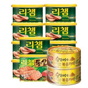 [동원] 리챔 200gX9캔+리챔통살340g+(증정)순닭가슴살 볶음카레 135gX2캔