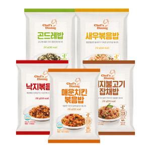 [천일냉동] 볶음밥5종세트(새우,낙지,곤드레나물,불고기잡채,매운치킨 각1봉씩)