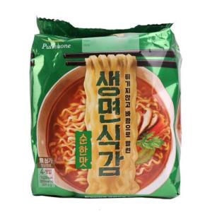 [메가마트] 자맛생라면4인(순한맛)383.6