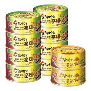 [동원] 순 닭가슴살훈제 135gX8캔+(증정)순닭가슴살 볶음카레135gx2캔