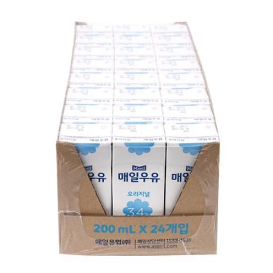 [메가마트] 매일)멸균우유Tray200ml*24