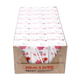 [메가마트] 매일)멸균딸기우유Tray200ml*24