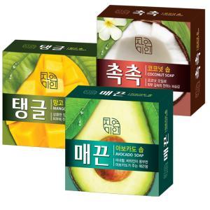 [무궁화] 자연미누 클렌징비누 4개 (아보카도/망고/코코넛)