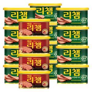[동원]리챔 자연레시피 200g*12캔+(증정)매운리챔200gx4
