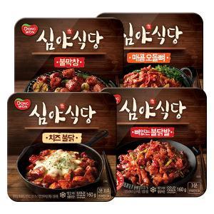 [동원] 심야식당 야식4종세트(뼈없는 불닭발+치즈불닭+매콤오돌뼈+불막창)