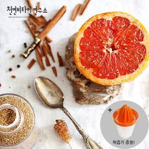 [천연비타민연구소]싱싱한 남아공 자몽 3kg(8입, 개당 370g 내외) + 착즙기 증정