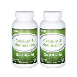 GNC 칼슘 앤 마그네슘(60) 1+1 특가