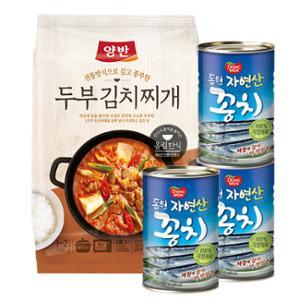 [동원] 꽁치 400g*3캔+양반 두부김치찌개