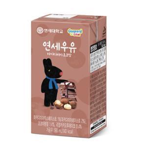 연세 마카다미아 초코우유(멸균우유) 190ml 24팩