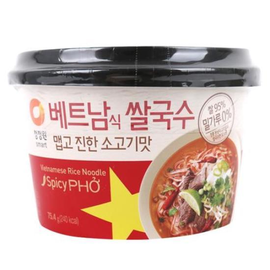 [메가마트] 청정원 베트남쌀국수 맵고진한소고기맛 컵 75.4g