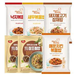 [동원볶음밥세트] 천일냉동볶음밥4종(매운치킨,새우,곤드레나물밥,불고기잡채)+버터간장 장조림밥 430gx2봉