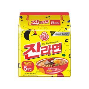 오뚜기 진라면 매운맛 멀티팩(120gx5입)X4개[총 20봉]