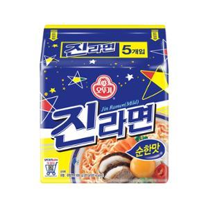 오뚜기 진라면 순한맛 멀티팩(120gx5입)X4개[총 20봉]