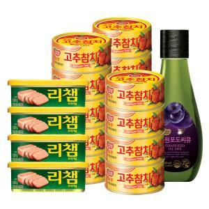 [동원] 고추참치 85g*14+리챔120g*4+(증정)동원 포도씨유 500ml