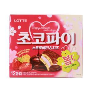 [메가마트] 롯데 딸기 초코파이 336g