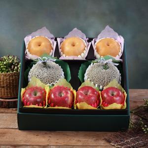 [과일농산]진품 사과 배 메론세트 7.1kg(사과4과+배3과+머스크메론2과)
