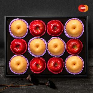 [이룸팜스]다복 명품사과.배 혼합세트1호 5kg(사과6입,신고배6입)