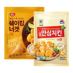[만원의행복★너겟] 대림선 안심치킨너겟 540g+쉐이킹너겟 치즈520g