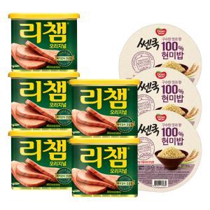 [동원] 리챔340g*5캔+현미밥 3입 증정