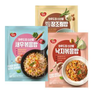 [동원] 하루도정신선쌀 볶음밥세트 새우볶음밥 450g+낙지볶음밥 450g+버터간장 장조림밥 430g