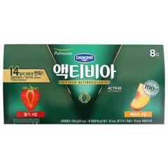 [메가마트] 풀무원 액티비아 딸기 복숭아 80g*8