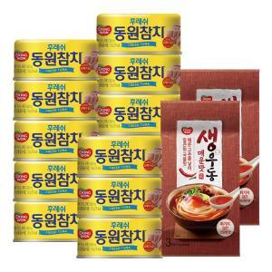 [동원]후레쉬참치150g*13+(증정) 생우동 매운맛 6인분