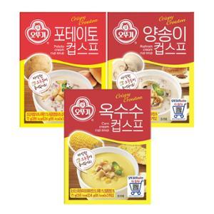 오뚜기 크루통 컵스프(4종) X 4개(콘/갈릭/버섯/감자)